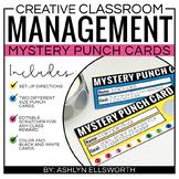 Classroom Management Behavior Punch Cards