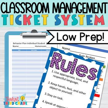 Classroom Management - Behavior Ticket System