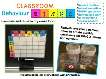 Classroom Management Behaviour BINGO