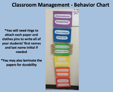 Classroom Management - Bilingual Behavior Chart (Spanish)
