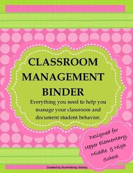 Classroom Management Binder: Create, Enforce, and Document