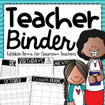 Classroom Management Binder {Editable Forms for Managing Your School Year}