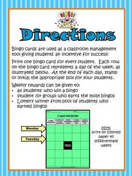 Classroom Management Bingo {FREEBIE}