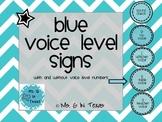 Classroom Management- Blue Voice Level Chart