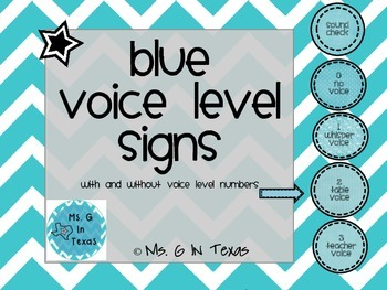 Classroom Management- Blue Voice Level Chart