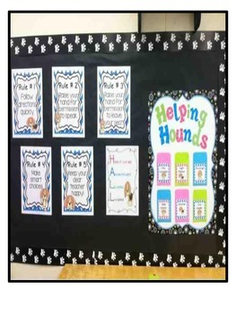 Classroom Management Bulletin Board Essentials-Puppy Themed
