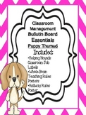 Classroom Management Bulletin Board Essentials-Puppy Themed