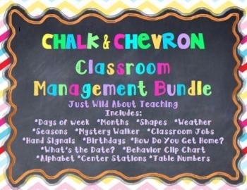 Chalk & Chevron Classroom Management Bundle