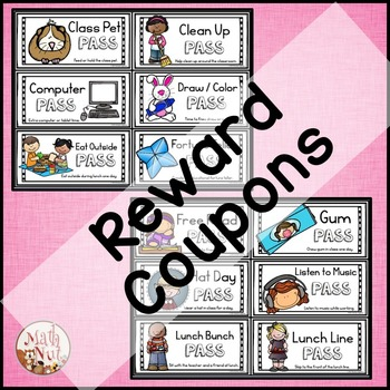 "Classroom Management Bundle ""Reward Coupons and Reminder Bracelets"""