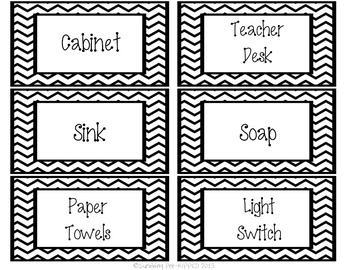 Classroom Management Bundle - Black Chevron