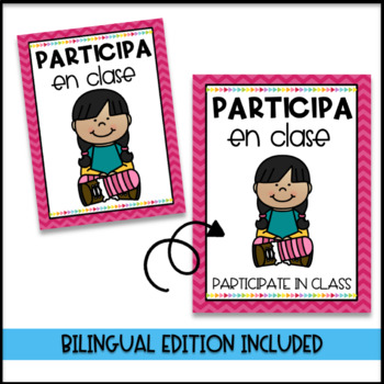 Classroom Management Decor Editable and labeled in Spanish