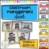 Classroom Management Decor Editable in Spanish and Bilingu
