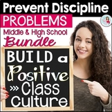 Positive Classroom Discipline & Behavior Management Bundle Middle & High School
