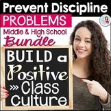 Positive Classroom Behavior Management Bundle Middle & High School