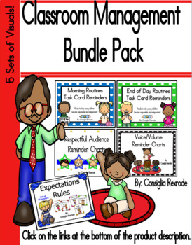 Classroom Management Bundle Pack (5 sets of visuals to support rules/routines)