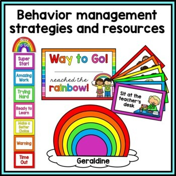 Classroom Management Bundle {Rainbow Theme}