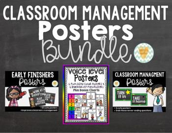 Classroom Management Bundle of Posters {20% bundle discount}