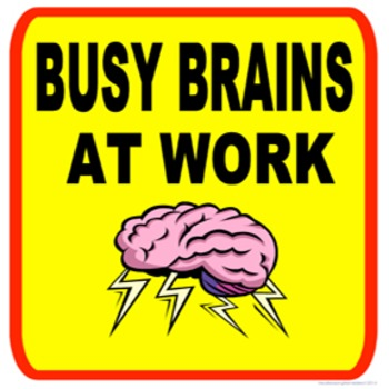 Classroom Management- Busy Brains at Work Poster