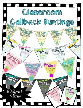Class Callbacks and Chants Bunting - Chalkboard/Tropical/Watercolor