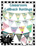 Class Callbacks and Chants Bunting - Chalkboard/Tropical/W