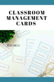 Classroom Management Cards: Please, Stop Talking and Put Your Phone Away