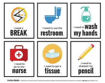 Classroom Management Cards [Yes/No, I'm stuck, I need to sharpen my pencil...]