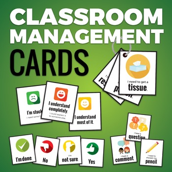 Classroom Management Cards [Yes/No, I'm stuck, I need to s
