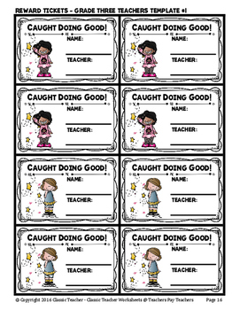 Classroom Management - Caught Doing Good Reward Program - School Edition