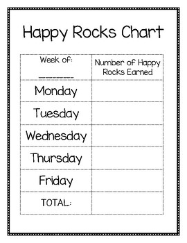"Classroom Management Chart - ""Happy Rocks Chart"""