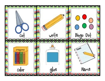 Classroom Management Charts and Posters with Chevron Style