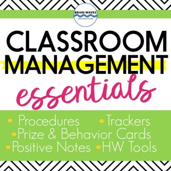 Classroom Management:  Back to School Essential!