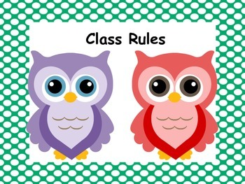 Classroom Management Class Rules