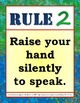 Classroom Management Class Rules Posters in English and Spanish
