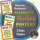 Classroom Management Class Rules Posters in English and Sp