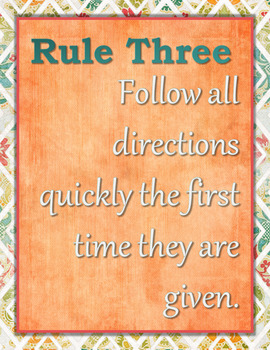 Classroom Management Class Rules Posters in English and Spanish V2