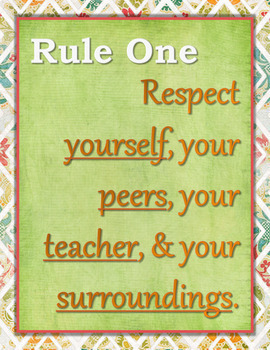 Classroom Management Class Rules and Consequences Poster Pack V2