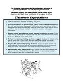 Classroom Management: Classroom Expectations and Procedures
