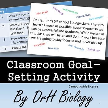 Classroom Management: Classroom Goal-Setting Activity {Cam