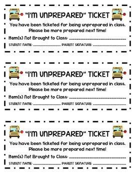 Classroom Management: Classroom Police Tickets