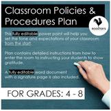 Classroom Management: Classroom Policies 4th Grade - Middl