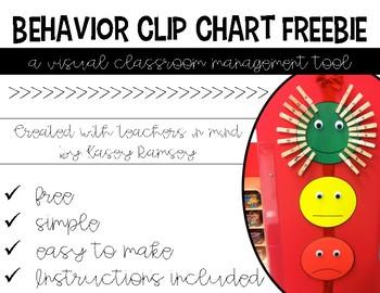 Classroom Management Clip Chart