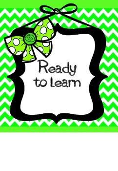 Classroom Management Clip Chart - Chevron and Bows