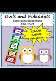 Classroom Management Clip Chart (IN IRISH, AS GAEILGE) - Owl theme