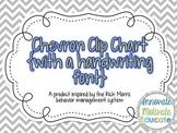Chevron Clip Chart {Handwriting Font}: a Behavior Management System