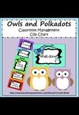 Classroom Management Clip Chart (Owl Theme)