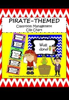 Classroom Management Clip Chart (Pirate Theme)