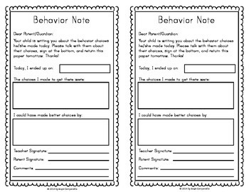 Classroom Management Clip Chart and Forms - Modern Decor