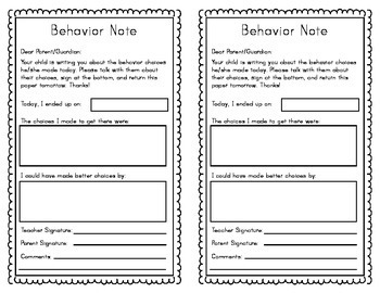 Classroom Management Clip Chart and Forms - Polka Dot