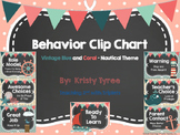 Classroom Management Clip Chart in Nautical Theme (Vintage