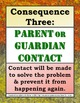 Classroom Management Consequences Posters in English and Spanish V1